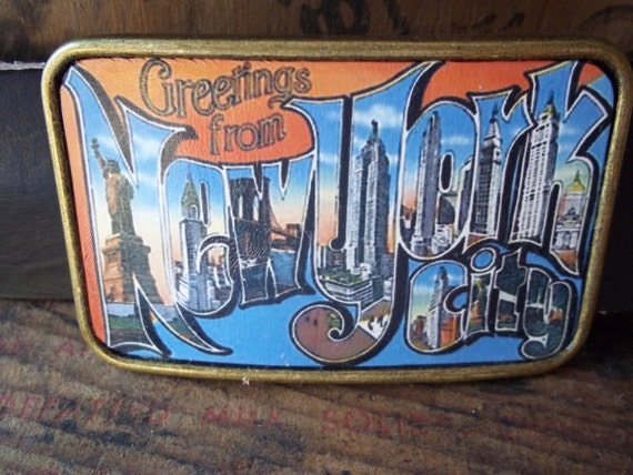 Belt buckle - NEW YORK CITY  Leather Belt buckle