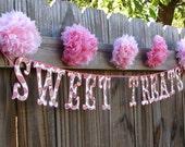 Wedding Sweets Banner Candy Bar Sweet Treats Reception Shower Valentine Decor
