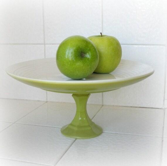 Apple Green Cake Stand Dessert Pedestal
