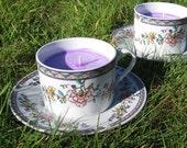 Vintage teacup lavender scented candle
