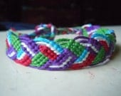 SALE! Braided Leaves Friendship Bracelet - Colorful, Ready to Ship