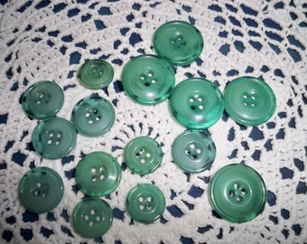 Jade Colored Buttons