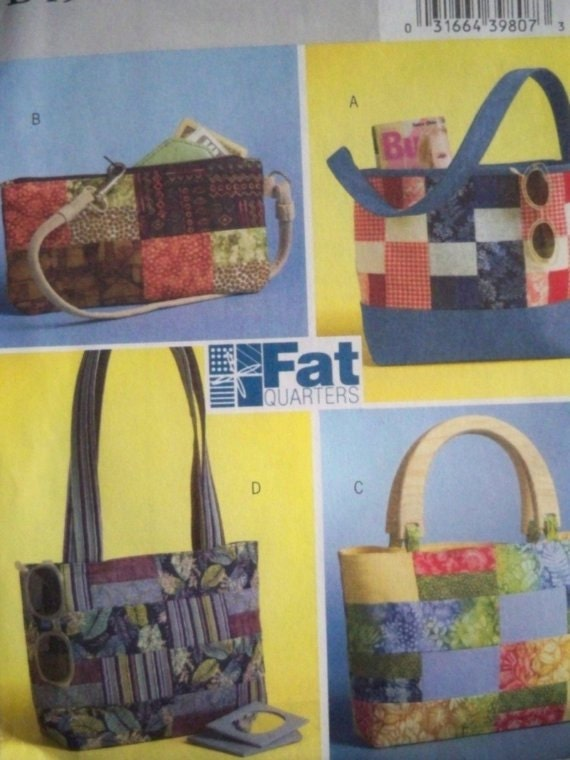 Butterick Fat Quarters Handbag Pattern - Uncut