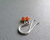 Carnelian Earrings - Orange Carnelian on Sterling Silver by Luv Laugh Sparkle
