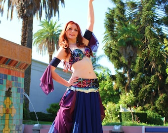 Full Circle Chiffon Skirt for Belly Dance Tribal Fusion Cabaret
