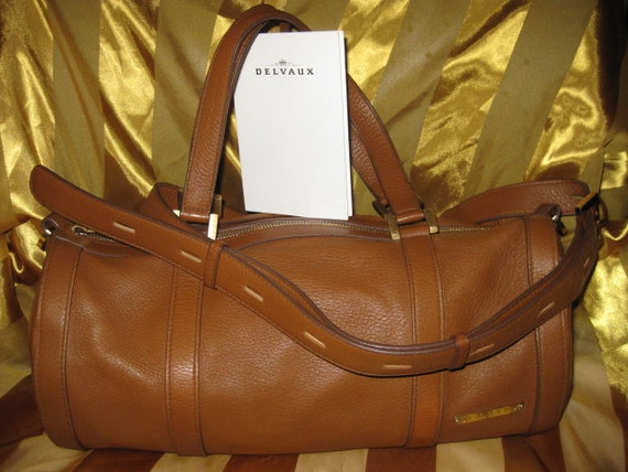 Delvaux Tan handbag/ shoulder bag/ top handle/ messenger