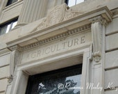 Agriculture Building-  Classic architectural detail  and carved letters