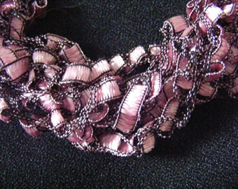 Show Me Pink Ladder Yarn Necklace