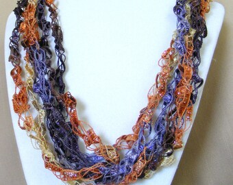 Beauty of the Storm Ladder Yarn Necklace