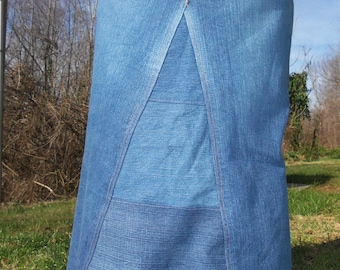 Long Jean Skirt, Custom Order Only