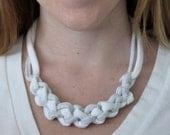 Gray & White Knotty Necklace