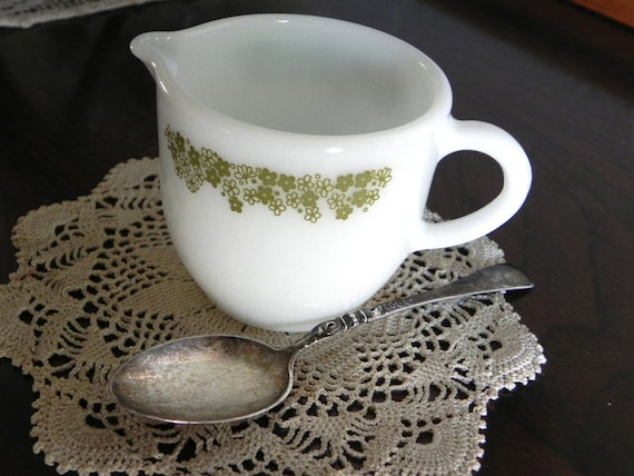 Pyrex Crazy Daisy or Spring Blossom cream pitcher