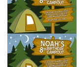 PRINTABLE Birthday Party Camping Invitation - Chic Parties by Shabby Chic Crafts