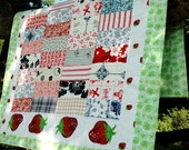 RESERVED FOR AMBER LaNina Nr. 23  - colourful baby quilt