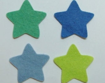 Stars Wool Felt Blends Die Cut-Choose up to 4 different colors