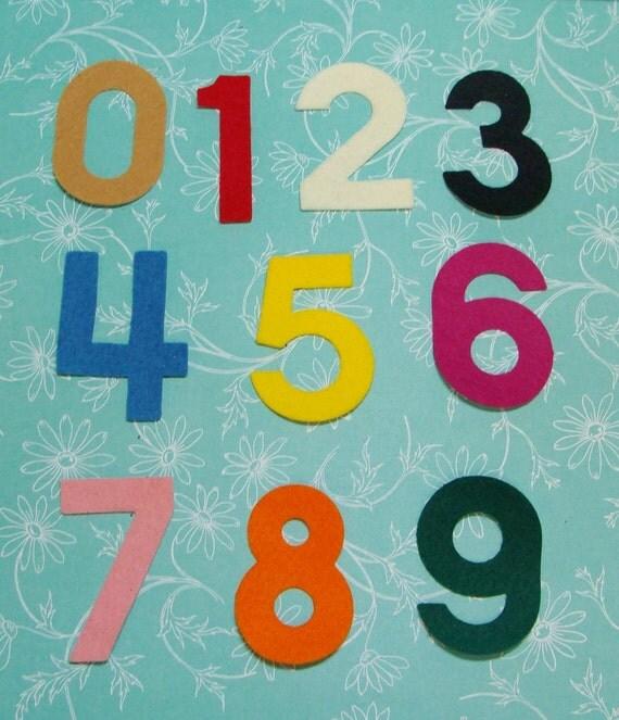 Numbers two inch die cut wool felt blend 30 piece set- you choose numbers