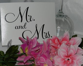 Wedding Reception Swetheart Table - Mr. and Mrs. Sign