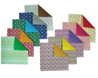 Pressed Flower Pattern Origami Paper - 10 Sheets