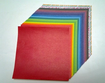 Double Sided Plain Color Origami Paper - 30 Sheets