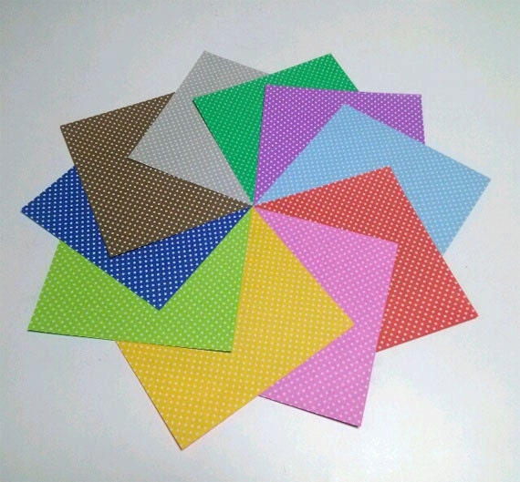 dotted pattern amp plain colors origami paper double sided