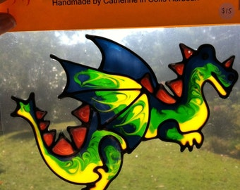 Dragon Suncatcher window sticker/decal stained glass style Sunshiner