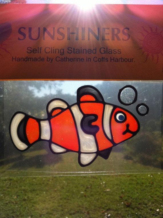 Nemo Clownfish fish Suncatcher window sticker/decal stained glass style Sunshiner