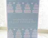 Personalised Hearts Wedding Card