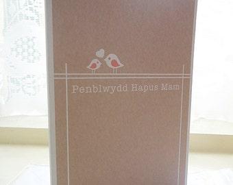 Personalised Penblwydd Hapus Mam Welsh Card