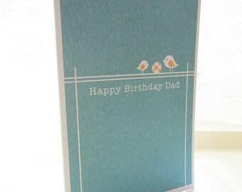 Personalised Dad Bird Birthday Card