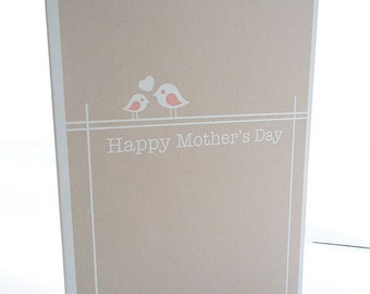 Personalised Bird Mothers Day Card