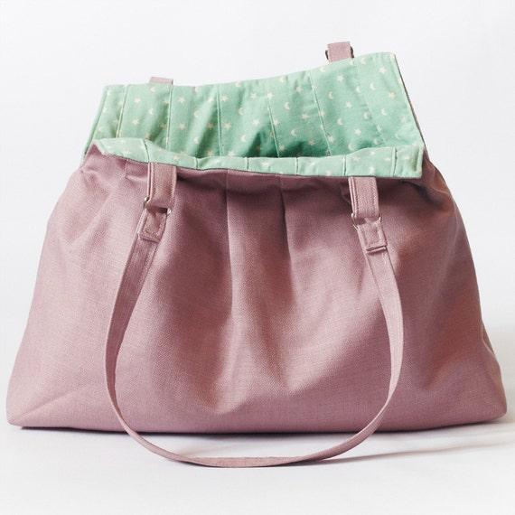Purple Tote Bag For Pleats Sake