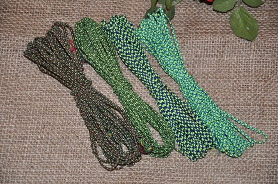CHEVRON SOUTACHE 3mm for Jewelry making - GREEN color pallette - 5 meters each - choose your color