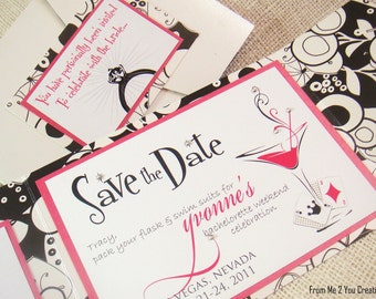 Custom Bachelorette Party Invitation with Bling