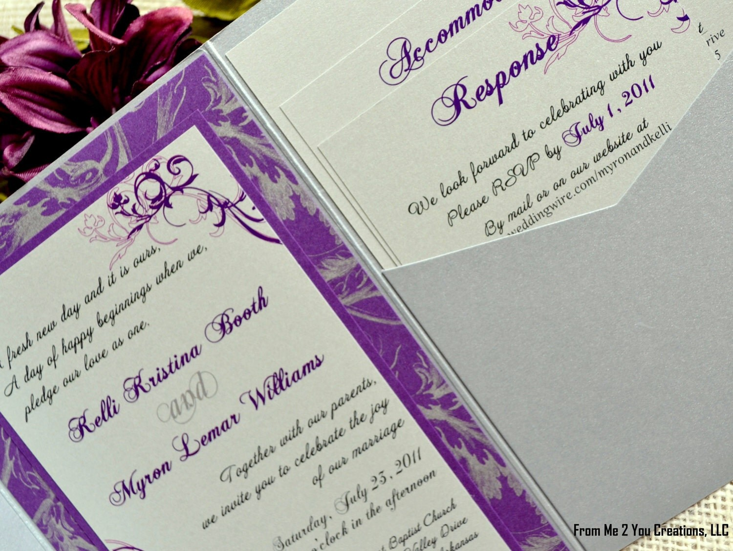 Silver And Purple Wedding Invitations: Chandeliers & Pendant Lights