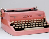 Bubblegum Pink Royal Quiet DeLuxe Typewriter - PROFESSIONALLY SERVICED - with case