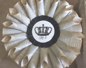 French Paper Wreath - CROWN No. 5