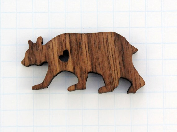 Bear Pin-Walnut