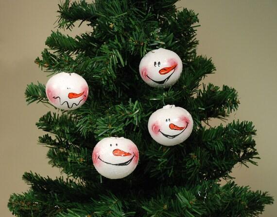 Snowman Gourd Ornament Set of Four