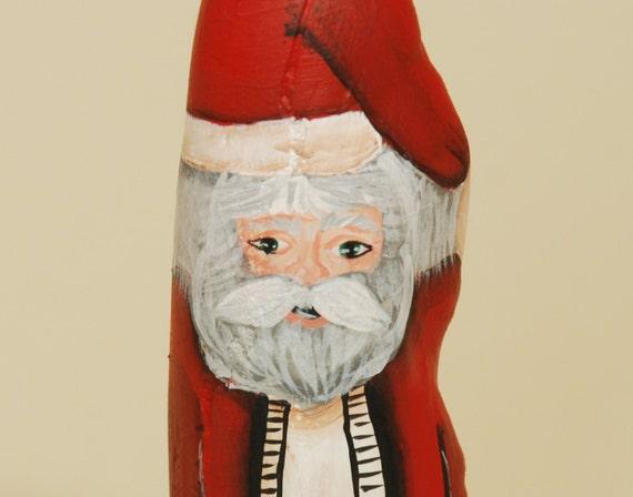 Cypress Knee Santa Handpainted Wood Santa