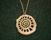 16K Gold Plated Pandent on 14K gold filled Chain Necklace -