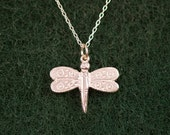 Sterling Silver Butterfly Charm Necklace on sterling silver Chain