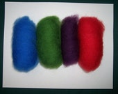 dyed wool batts