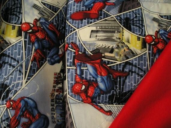 Spiderman nap mat  one piece handmade