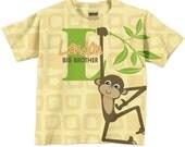 Monkey T-shirt Personalized Big Brother Shirt, Boys Clothing