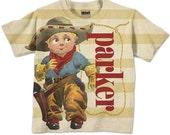 Cowboy Shirt, Personalized Western T-Shirt, Birthday Boy Tee