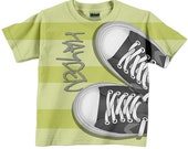 Boys T Shirt, Tennis Shoes Personalized Sneakers tshirt