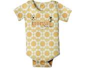 Personalized Baby Bodysuit, Doodle Bee Custom One-Piece