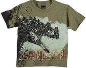 Boys Dinosaur T-Shirt, Personalized Name Clothing, TShirt, Top