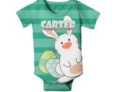 Easter Baby Bodysuit, Personalized First Easter One-Piece Outfit