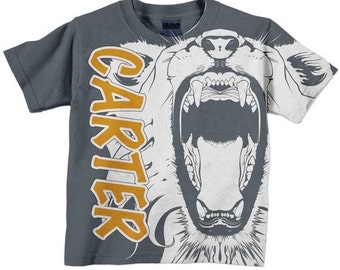 Lion Shirt, Personalized Boys T-Shirt, Childrens Clothing